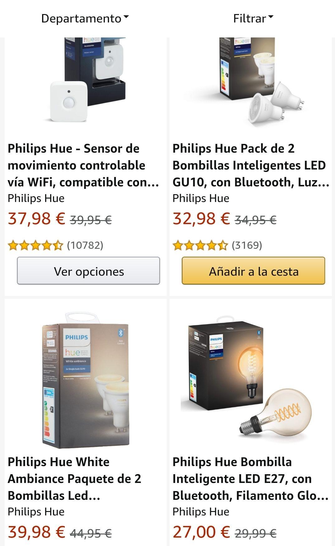 Diverse Philips Hue artikelen 3 = 2 @Amazon ES