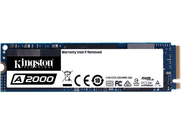 KINGSTON Interne SSD-schijf 1 TB A2000 NVMe PCIe (SA2000M8/1000G) (Grens deal België)