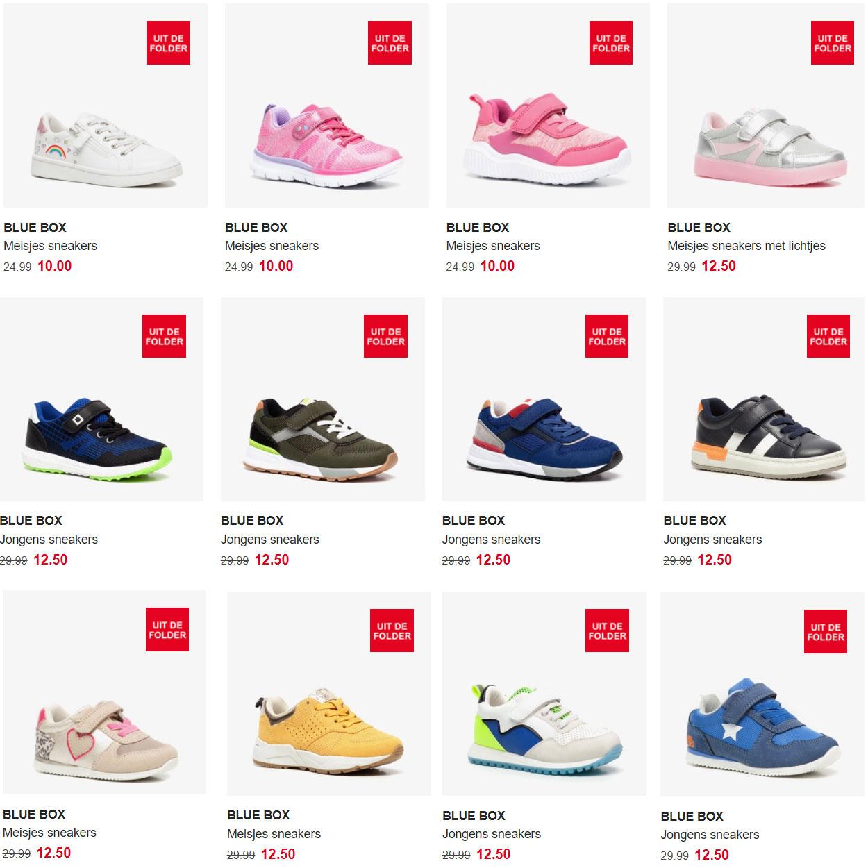 Kinderschoenen 60% korting: €10 tot max €15 [70 modellen]
