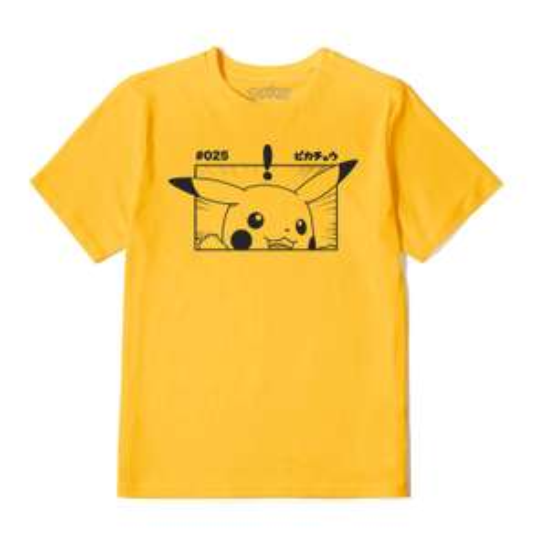Pokémon Pikachu Unisex T-Shirt - Mosterd Geel @zavvi.nl