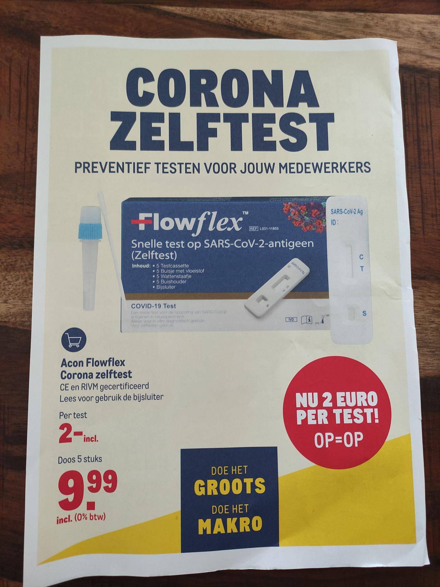 Corona zelftest / €2 @makro