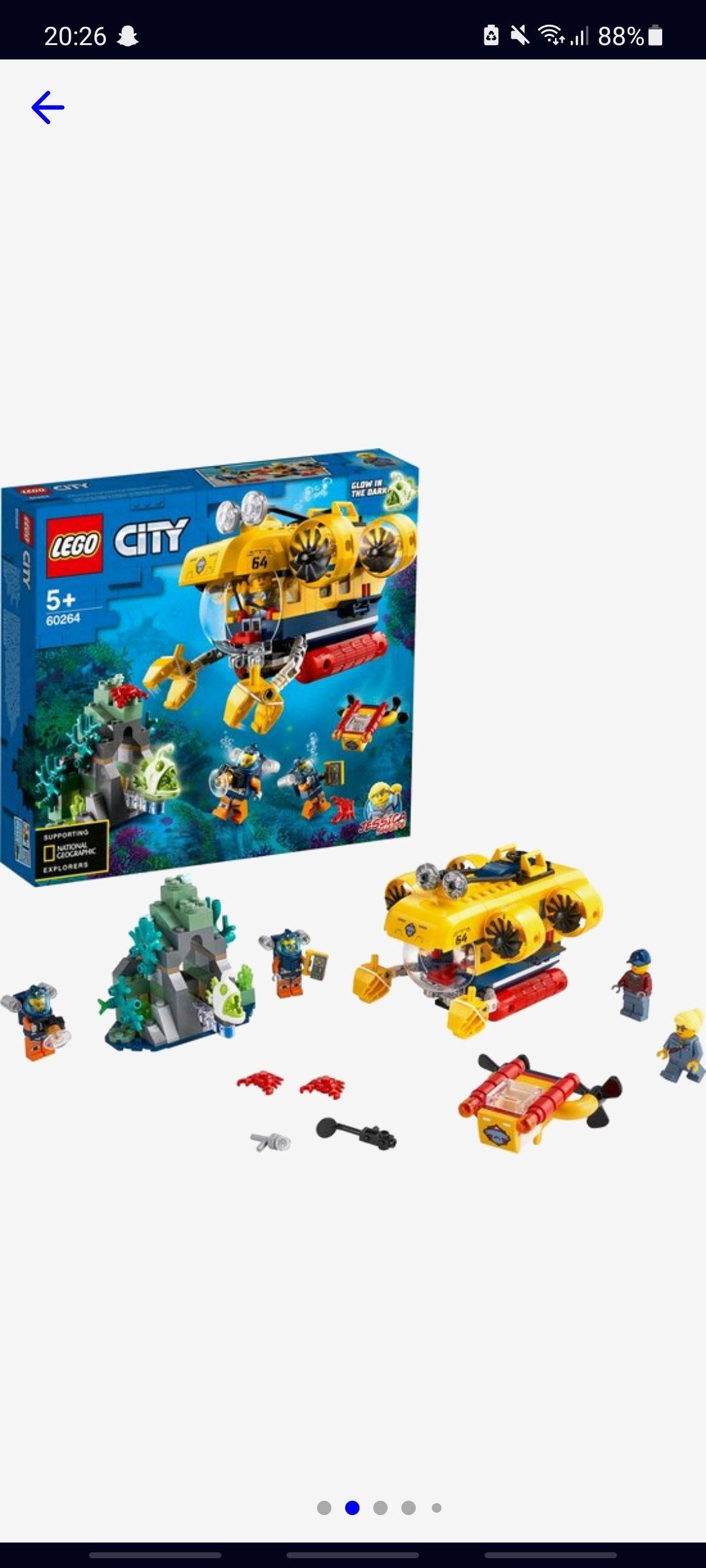 Lego 60264, oceaan verkenningsduikboot