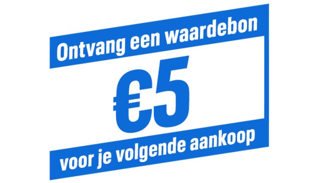 €5 waardebon gratis bij aankoop van een Days of Play aanbieding