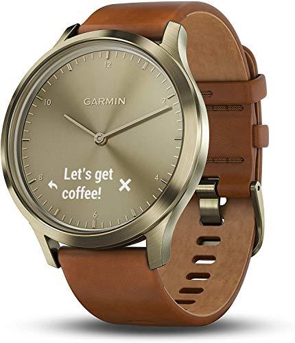 Garmin Vivomove HR Premium Hybrid Smartwatch - bruin/goud