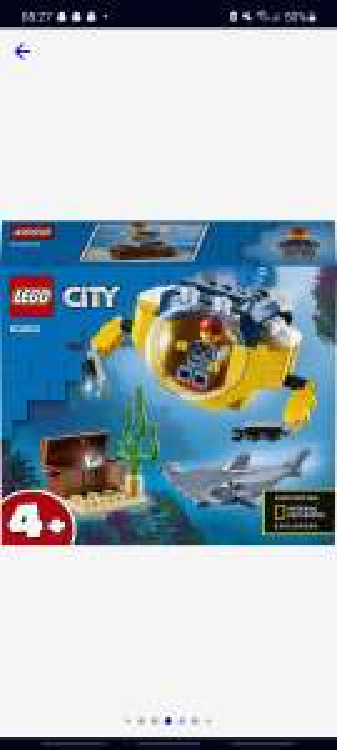 Lego 60263, oceaan mini duikboot