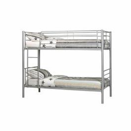 Stapelbed 90x200 in aluminium kleur