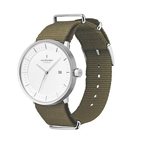 Nordgreen Philosopher Scandinavisch klassiek horloge uniseks in zilver analoog kwartsuurwerk 10015