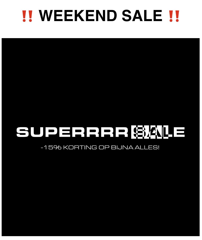 Weekend Sale Sneakerbaas - 15%