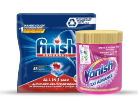 Gratis bezorging (€5) bij aankoop van Finish of Vanish (1+1 gratis) vanaf €2,25 @ Coop (week 21)