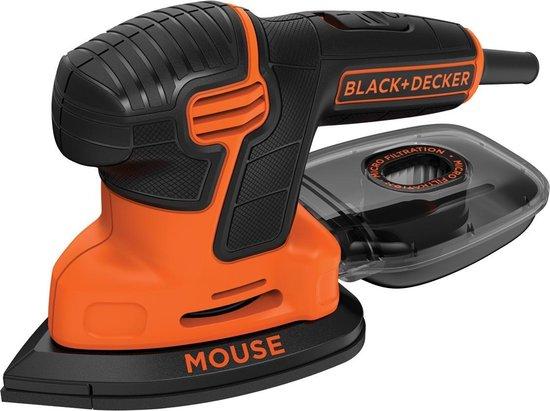 BLACK+DECKER Mouse KA2000 Detailschuurmachine - 110W - incl. accessoires en softbag