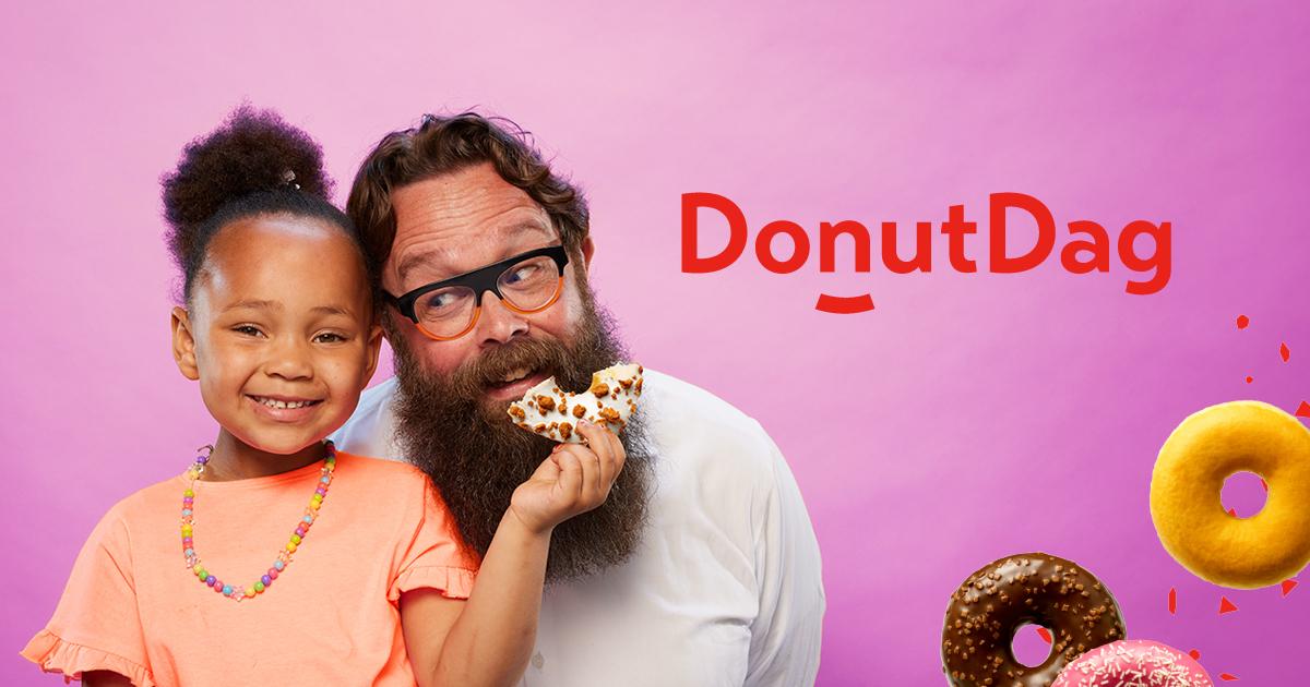 Gratis 'Donut Worry Be Happy' Donuts @Leger des Heils