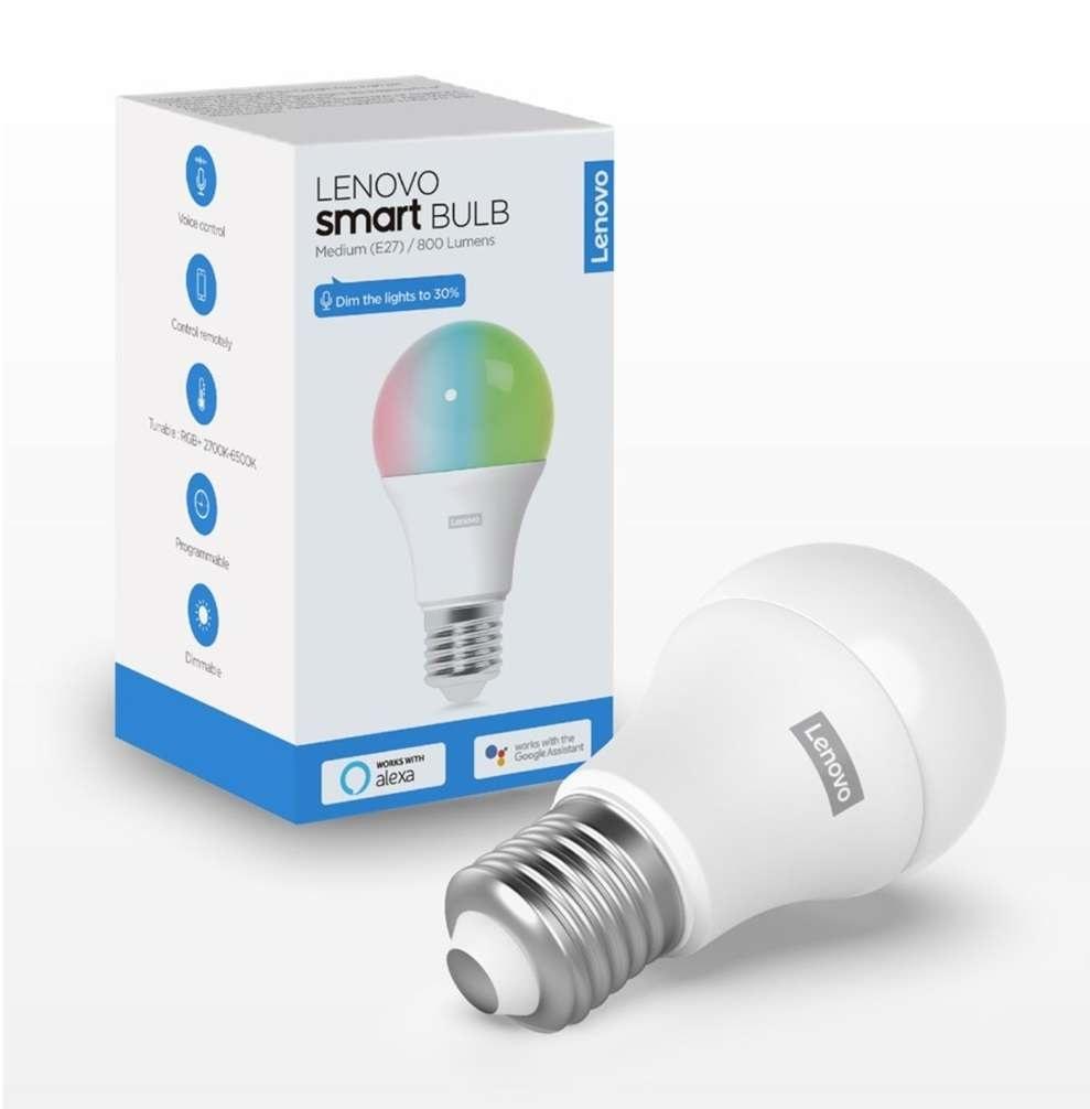 Lenovo Smart E27 WiFi Kleurenlamp @ Lenovo Store