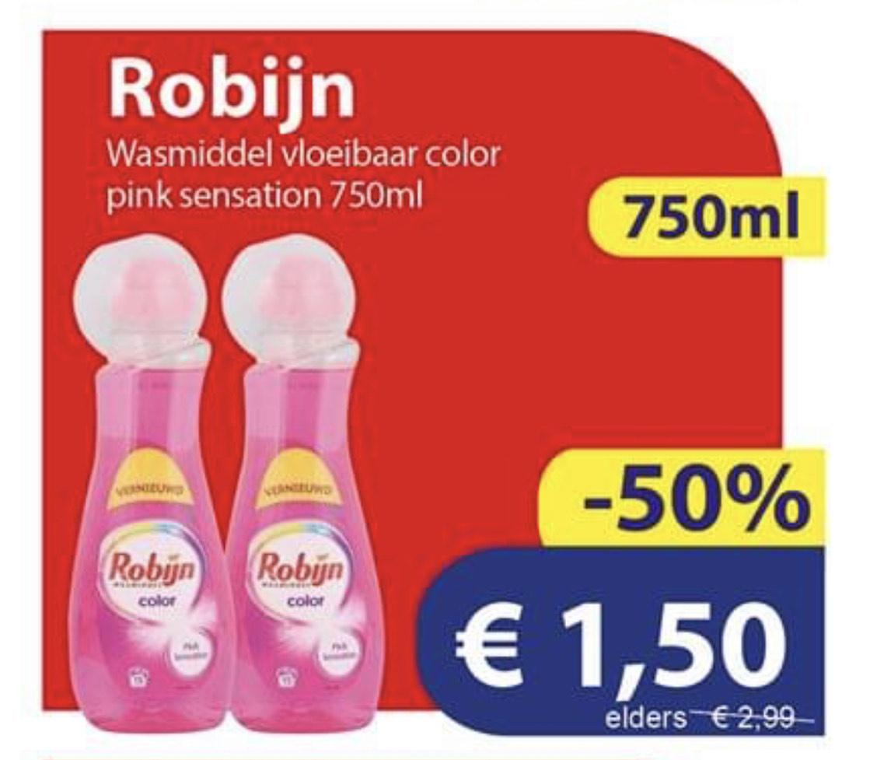 Robijn Color voor 1,50 bij De Grenze !