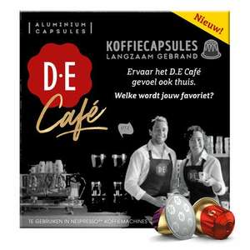 Gratis proefpakket Douwe Egberts Nespressocapsules (2 stuks D.E Café)