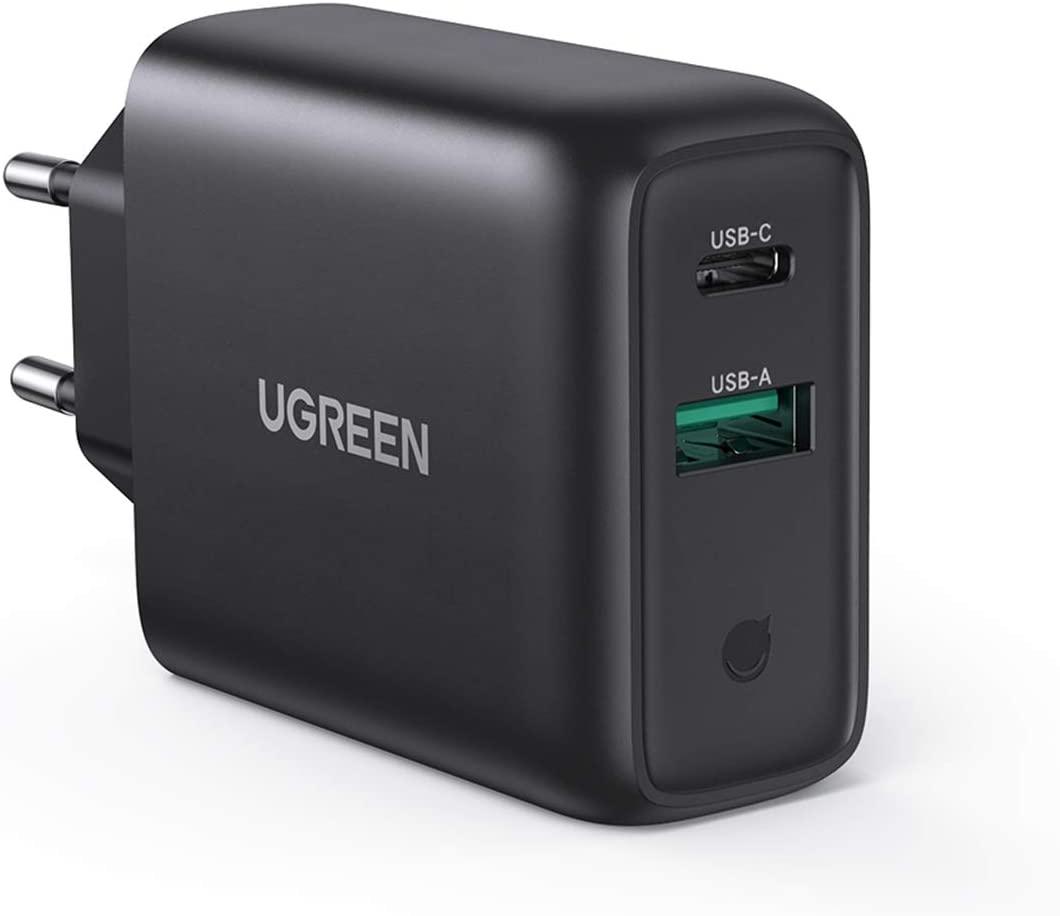 UGREEN USB-C oplader 36W Dual Port PD 3.0 & QC 3.0 voor €12,99 @ Amazon.nl