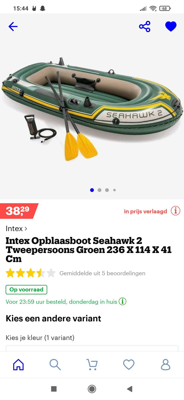 Intex opblaasboot seahawk 2