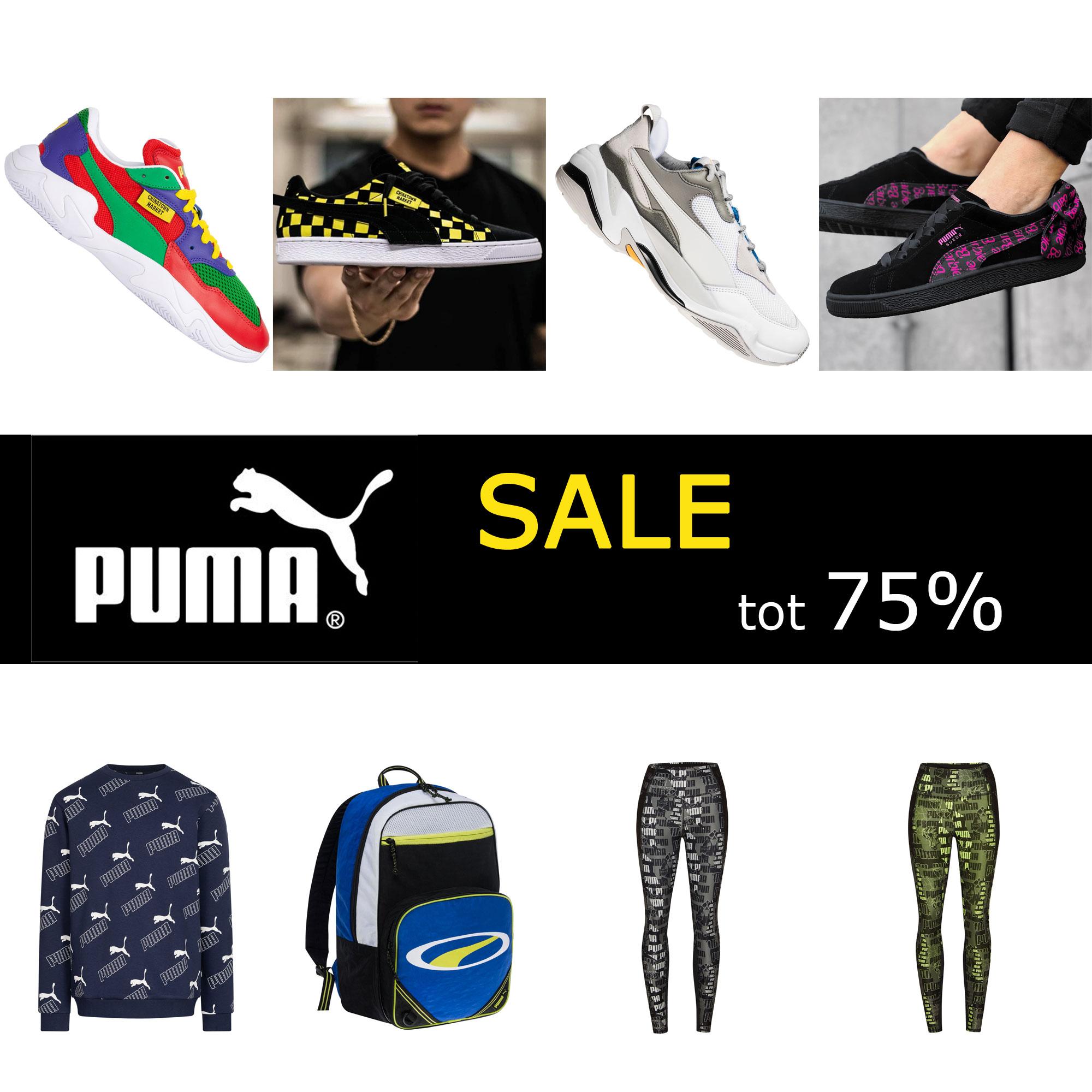 Puma SALE: tot 75% korting o.a. sneakers dames // heren // kids