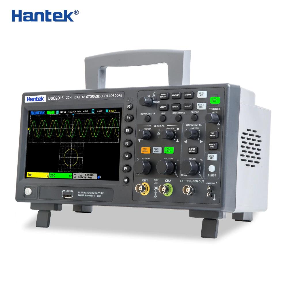 Hantek DSO2D15 Digitale Oscilloscoop 2x150MHz met sig.generator en protocoldecoders
