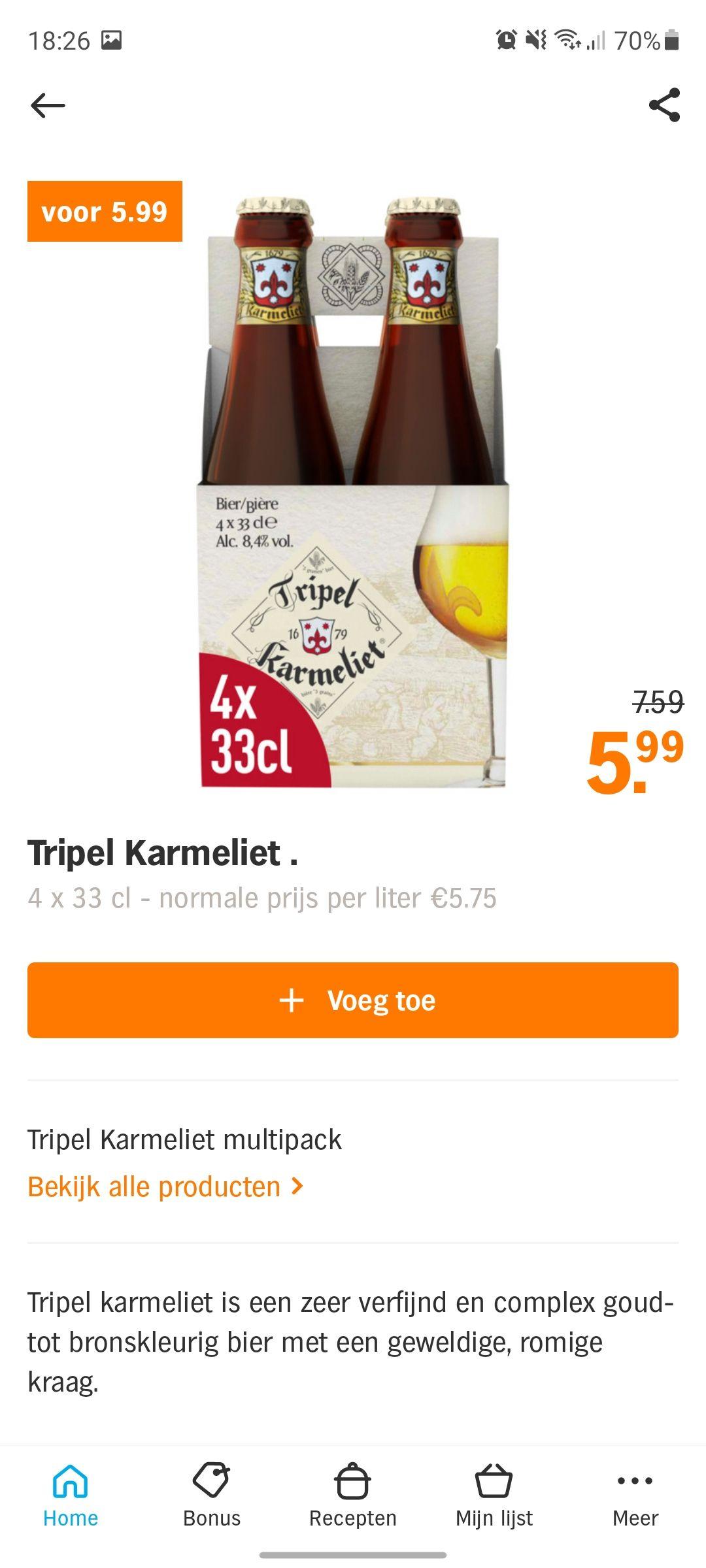 Karmeliet 4 voor €5.99