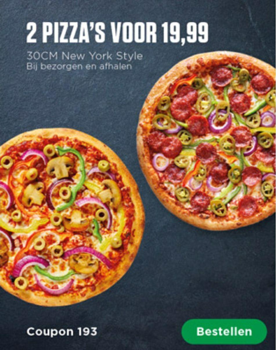 New York Pizza [Twee pizzas 20 EU]