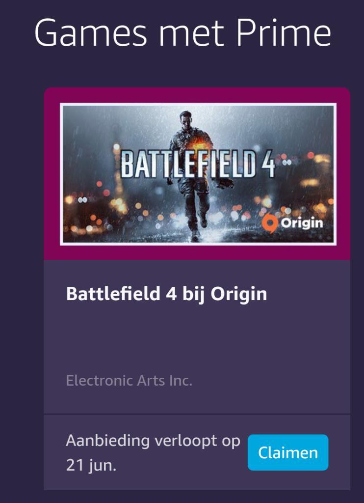 Battlefield 4 (PC Origin) gratis @ Prime Gaming