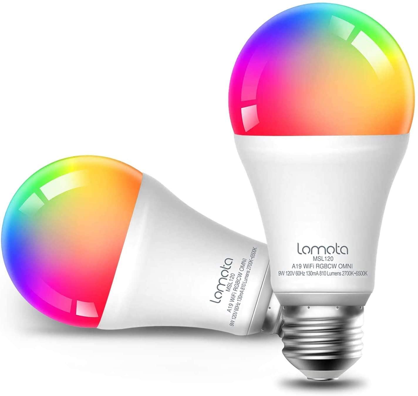 Meross Lomota Smart E27 LED lamp (800 lumen/Alexa/Google) 2 stuks voor €8 @ Amazon.nl