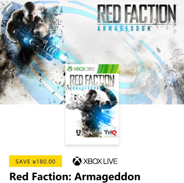Red Faction: Armageddon GRATIS met Xbox Gold op Israëlische Microsoft Store