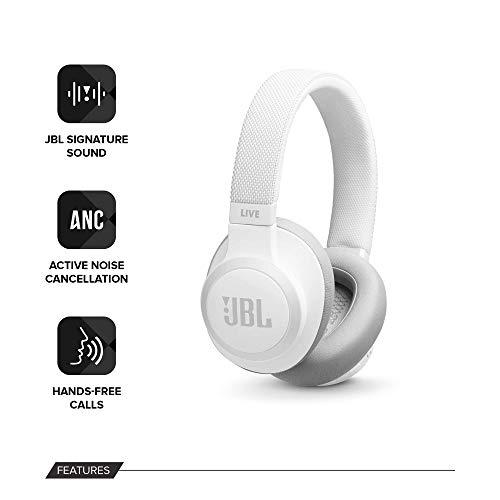 JBL Live 650BTNC - Noise cancelling koptelefoon - Wit