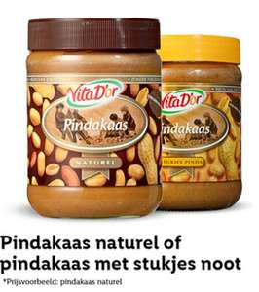 Vita D'or Pindakaas met 50% korting @ Lidl met kortingscoupon
