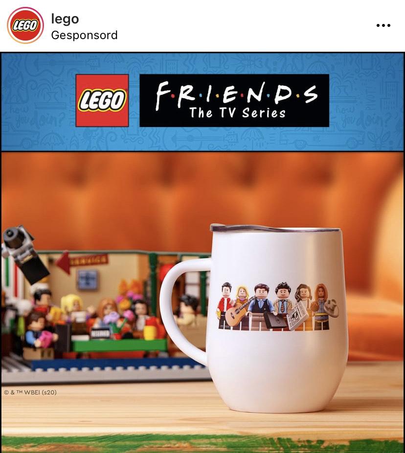 Lego. Ontvang een Friends-koffiemok GRATIS bij aankoop van Central Perk