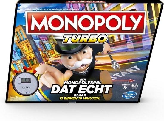 Monopoly Turbo [10 min. Spel] NL en BE editie, Bol en Amazon