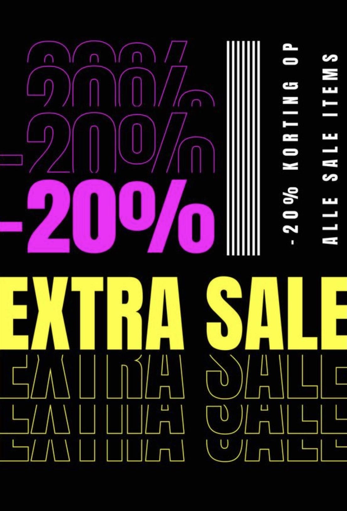 EXTRA 20% korting op sale artikelen