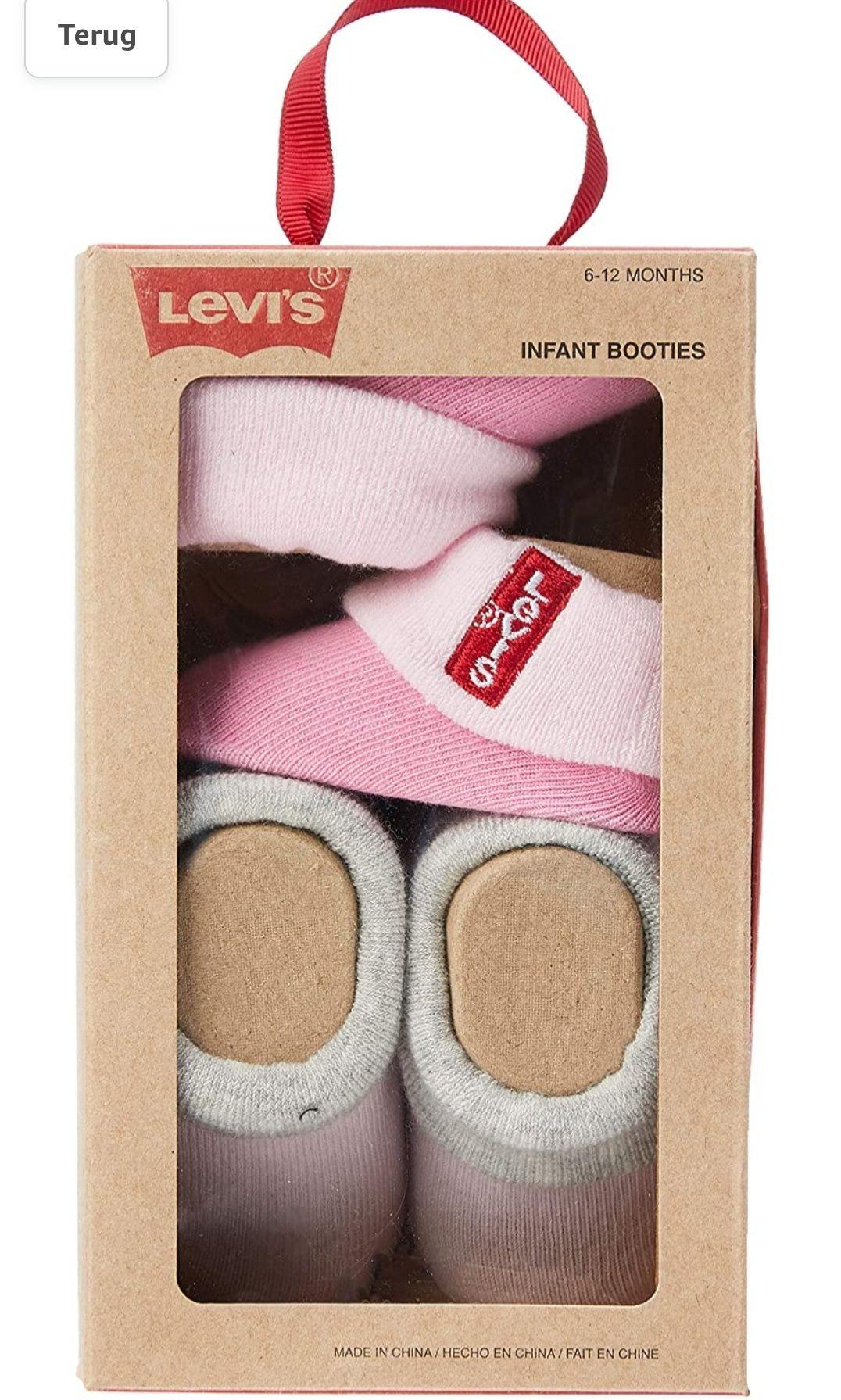 Levi's Baby meisje Booties - Red Tab Infant Boxed Bootie 2pk 6-12 maanden