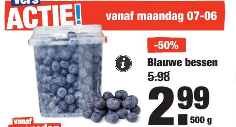 500 gram blauwe bessen voor 2,99!