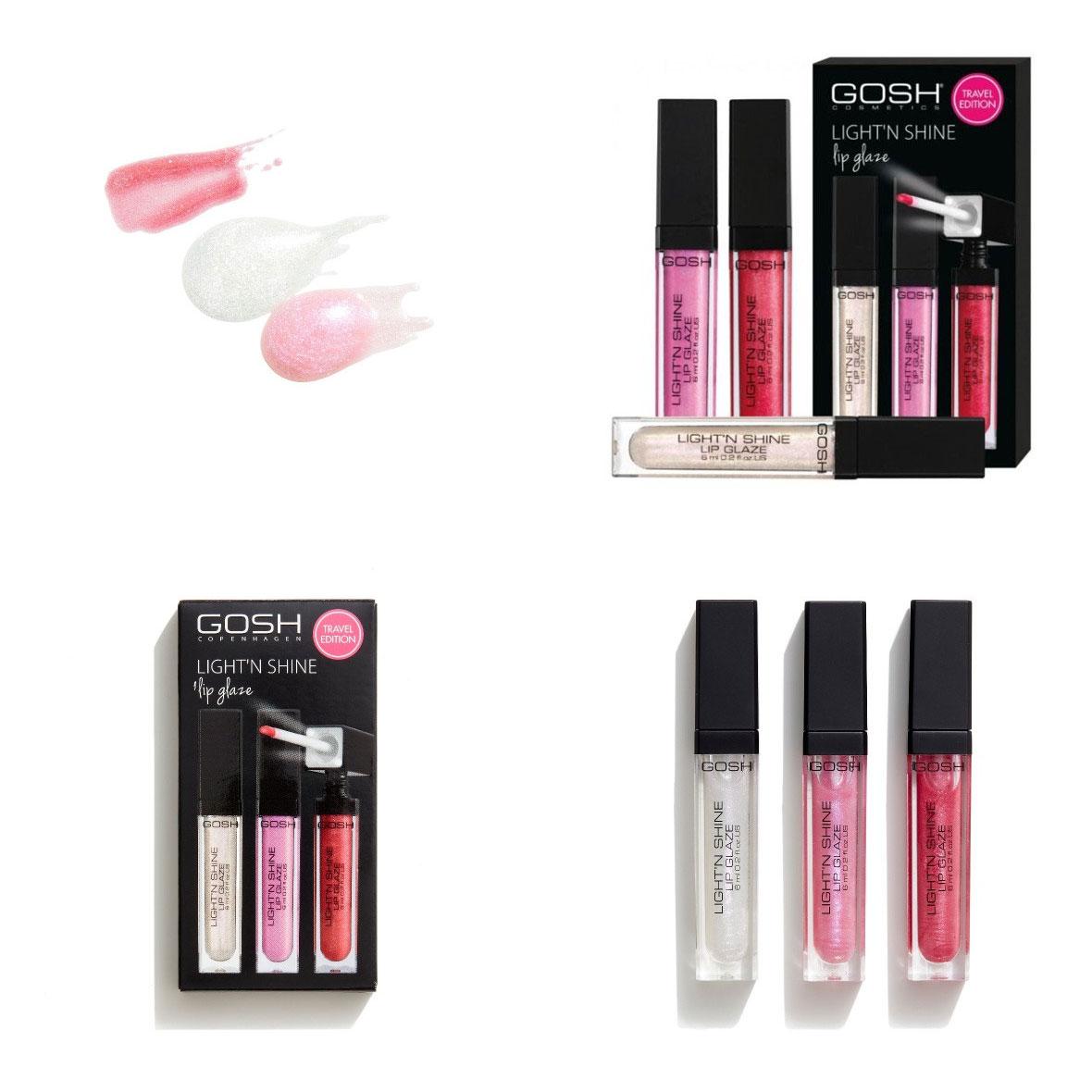 GOSH - Beauty Kit 3x Ligh't N' Shine lipgloss + meer GOSH aanbiedingen tot -71% !!
