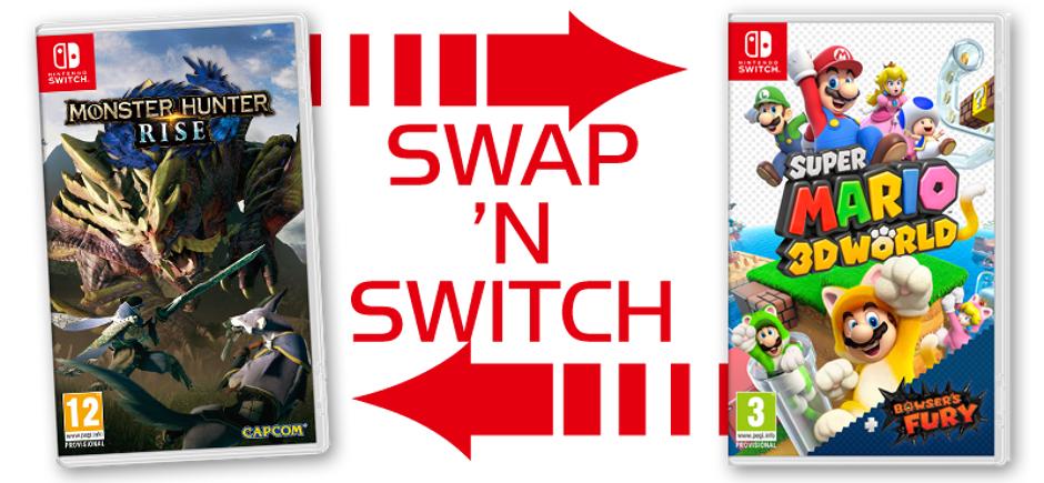 Betaal €15 voor een nieuwe Switch game bij inlevering van een USED Switch game