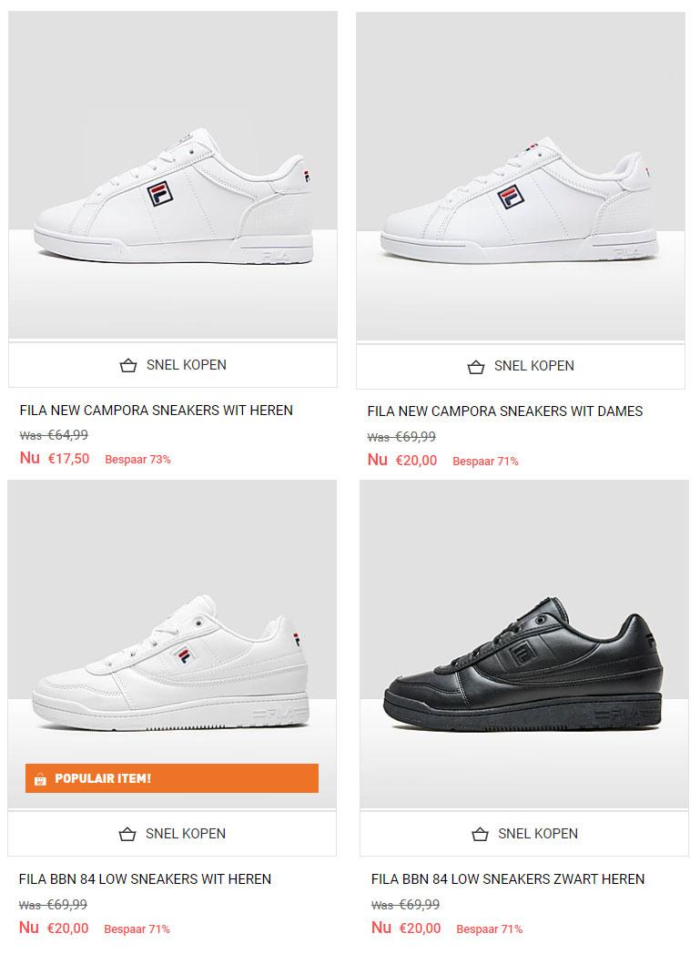 FILA sneakers -70% +25% extra = €13,13 // €15