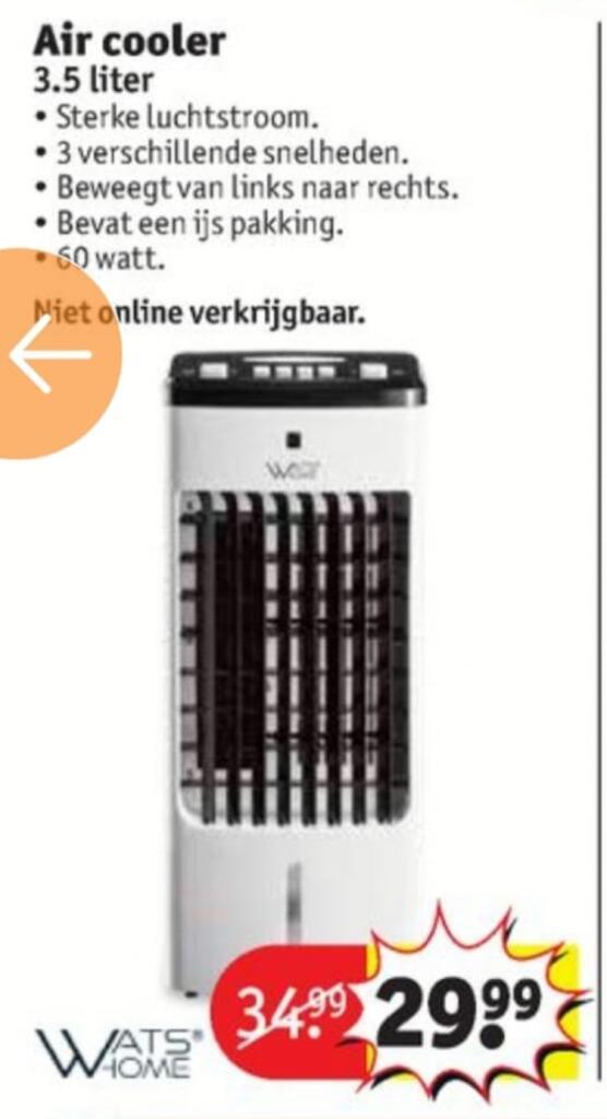 Whatshome Air cooler 3.5 liter/60 watt @ Kruidvat winkels