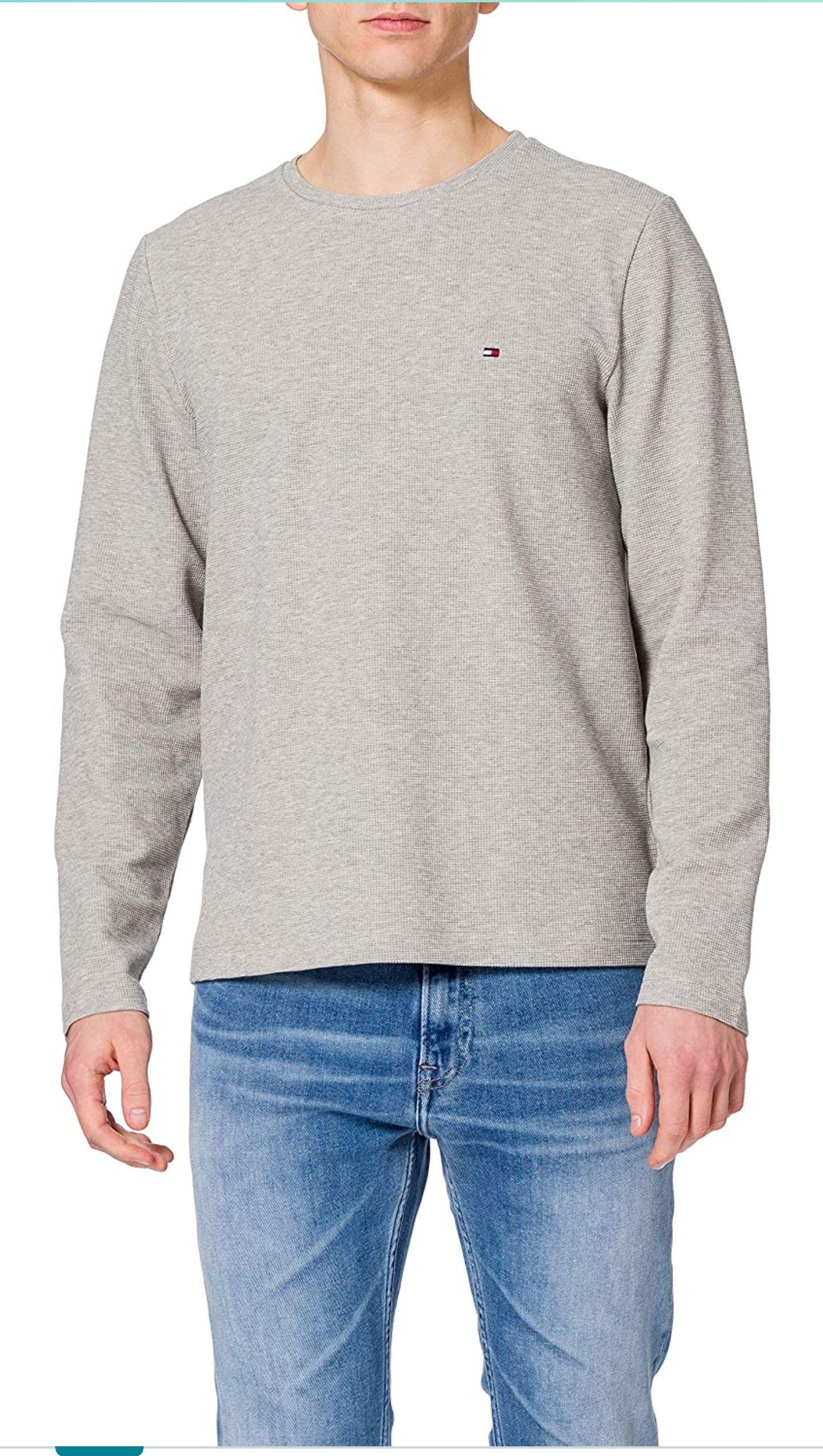 Tommy Hilfiger WAFFLE LONG SLEEVE TEE Men's T-Shirt/Trui