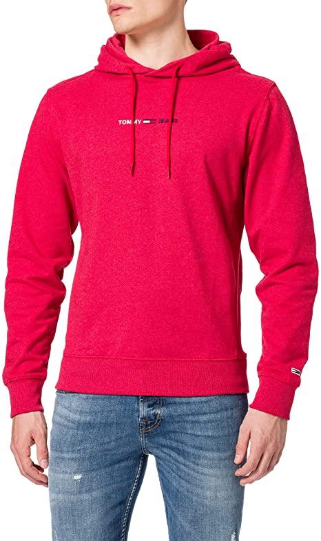Tommy Jeans Men's Tjm Straight Logo Hoodie Sweatshirt