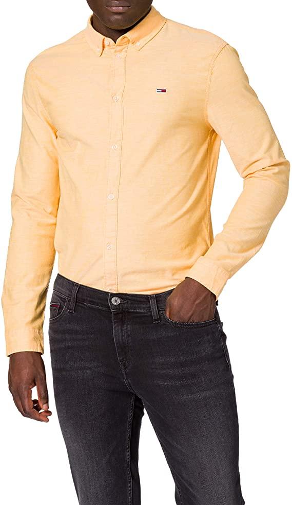 Tommy Jeans TJM SLIM STRETCH OXFORD SHIRT Men's T-Shirt/Overhemd