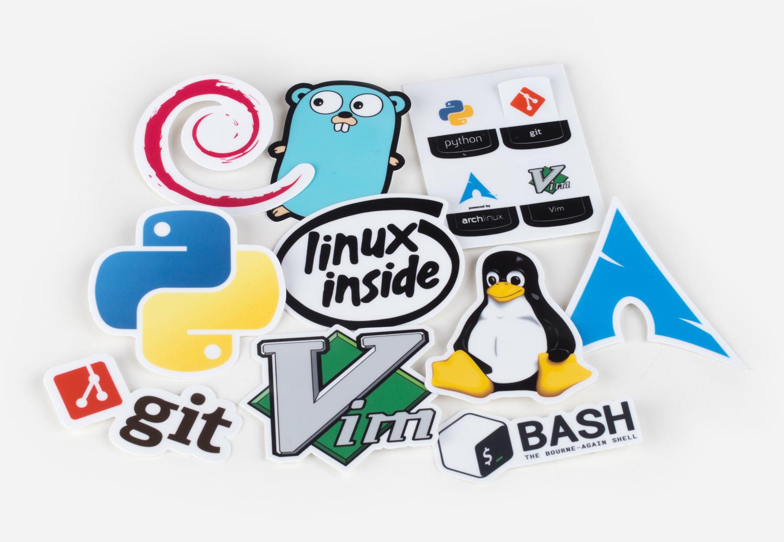 10 stickers - unix stickers pro pack - stickermule