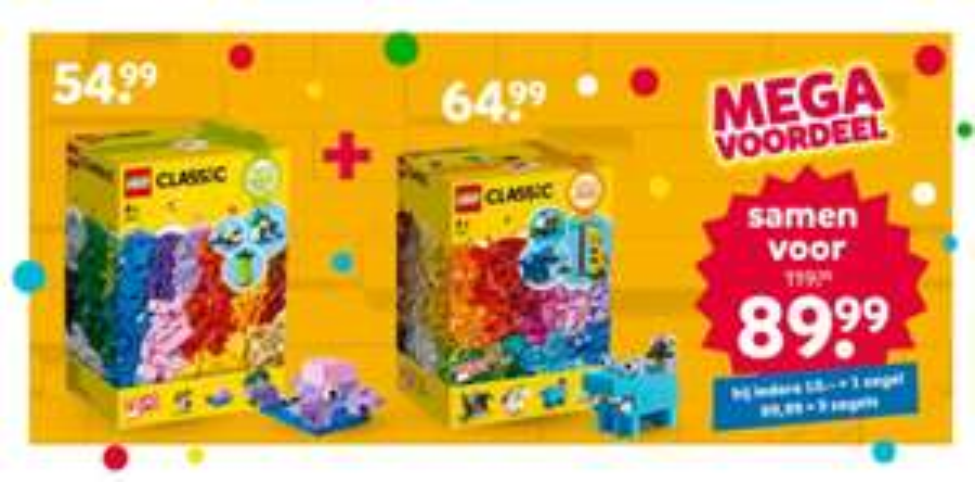 Lego combideal 11011 & 11016, 11 ipv 9 zegels online voor de partybox