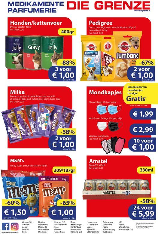 24*330ml Amstel Bier 0% €6 & Verzamelaanbiedingen @ Die Grenze (week 23 van 2021)