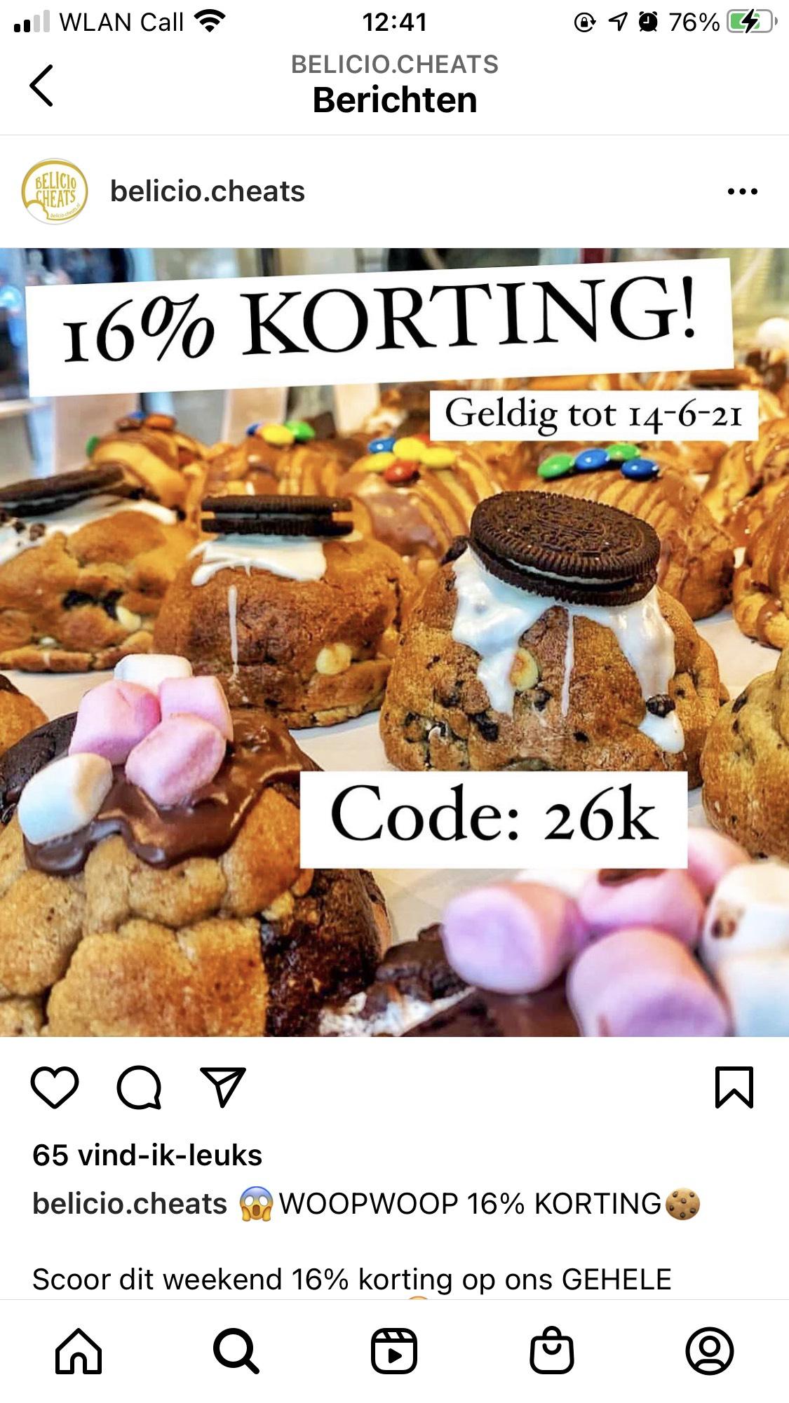16% Korting bij Belicio Cheats