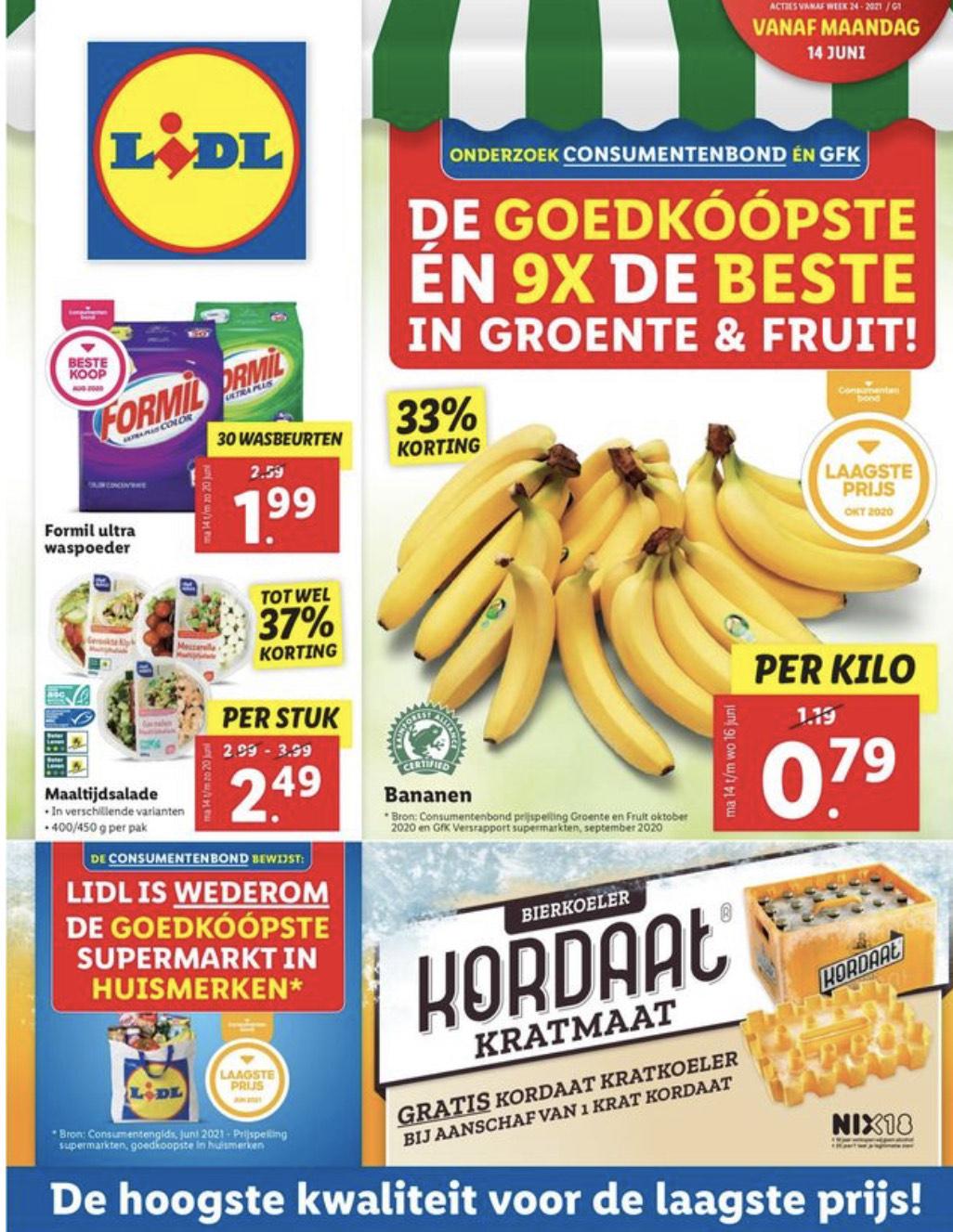 Bananen weer voor 0,79 bij Lidl