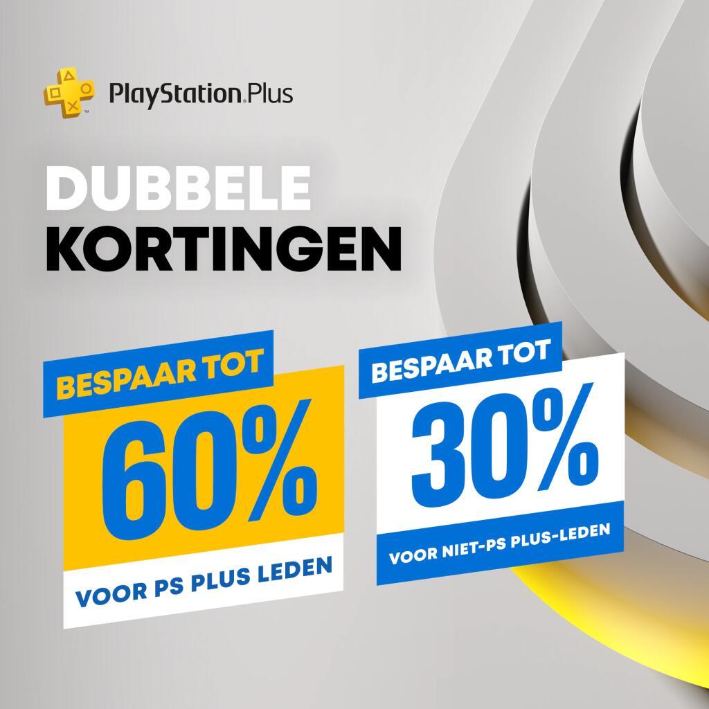Playstation store - Double discount (Extra voor PS+ leden)