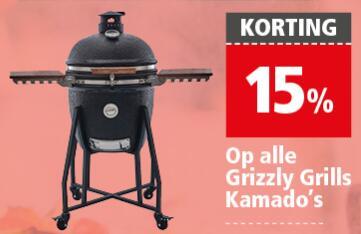 Welkoop - Grizzly Grill met 15% korting