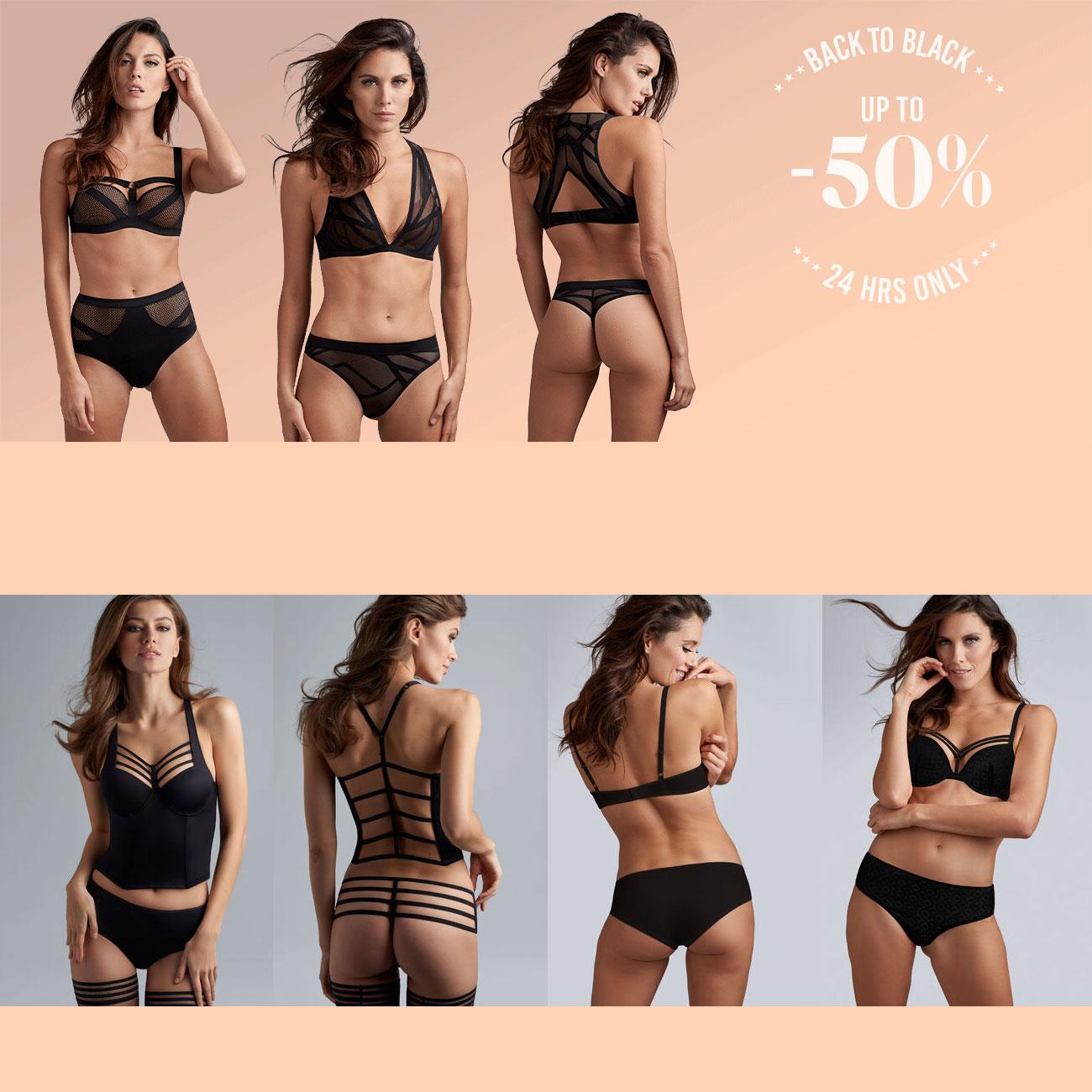 Flash Sale: black items tot 50% korting @ marlies | dekkers
