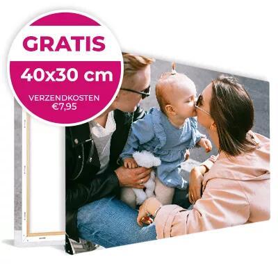 Fotocanvas 40x30cm voor €0 (€7,95 verzendkosten) @ FotoBehangFactory